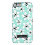 Flores de la menta de la MOD de la moda y de la Funda De iPhone 6 Barely There