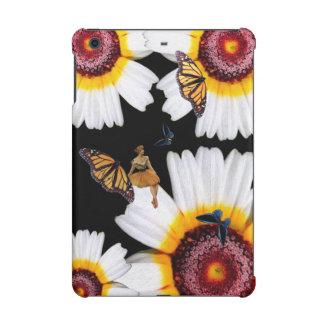 Flores de la mujer de la mariposa del vintage