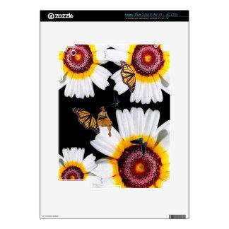 Flores de la mujer de la mariposa del vintage iPad 3 skin