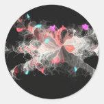 Flores de la nebulosa pegatinas redondas