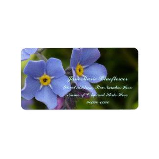 Flores de la nomeolvides, Myosotis Etiquetas De Dirección