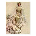 Flores de la novia del Victorian del vintage, retr Tarjetas Postales