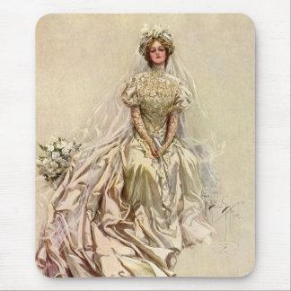Flores de la novia del Victorian del vintage, Alfombrillas De Ratones