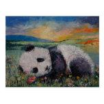 Flores de la panda tarjetas postales