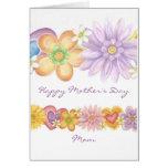 Flores de la pasión, mamá feliz del día de madre tarjeta
