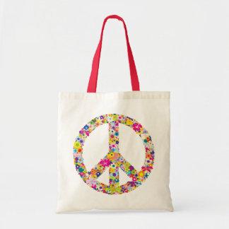 Flores de la paz bolsa tela barata