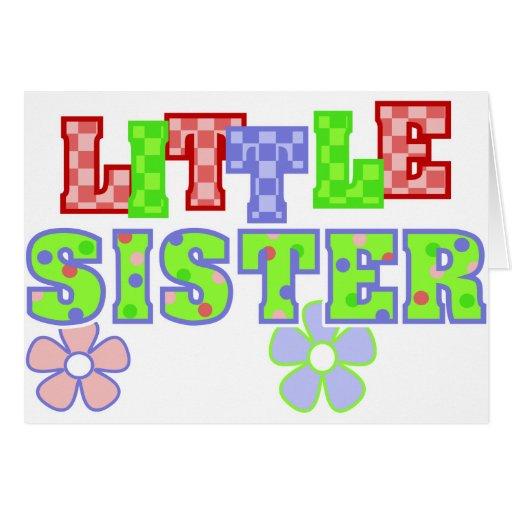 Flores de la pequeña hermana tarjeta de felicitación