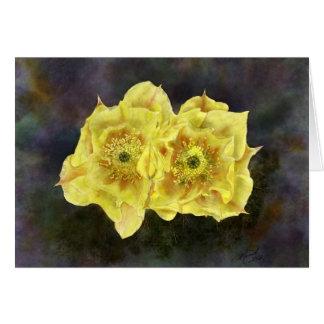 Flores de la pera de Prickley Tarjeta Pequeña