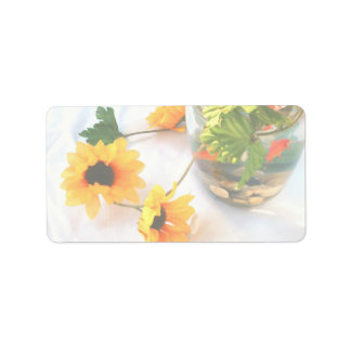 Flores de la pieza central del boda del Goldfish,  Etiquetas De Dirección