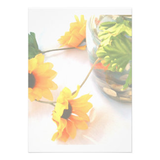 Flores de la pieza central del boda del Goldfish Invitacion Personal