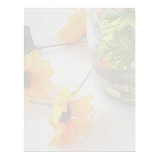 Flores de la pieza central del boda del Goldfish, Membrete