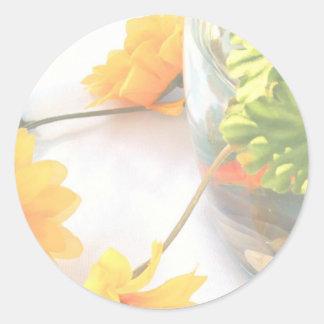 Flores de la pieza central del boda del Goldfish, Etiquetas Redondas