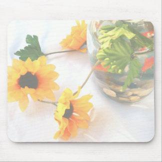 Flores de la pieza central del boda del Goldfish,  Alfombrilla De Ratones
