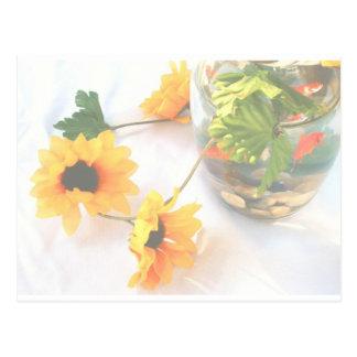 Flores de la pieza central del boda del Goldfish,  Postales