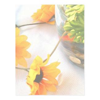 Flores de la pieza central del boda del Goldfish,  Postal