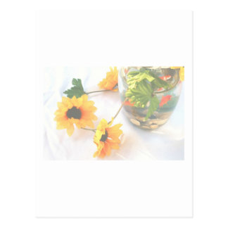 Flores de la pieza central del boda del Goldfish Postales