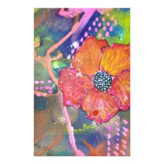 Flores de la pintada papelería personalizada