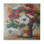 Flores de la pintura de Ana Hayes de la teja mezcl