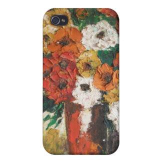 Flores de la pintura de Ana Hayes del asunto 4 4 d iPhone 4/4S Carcasa