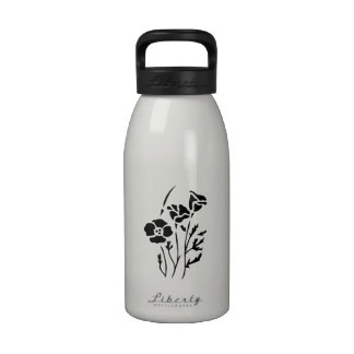 Flores de la primavera botellas de agua reutilizables