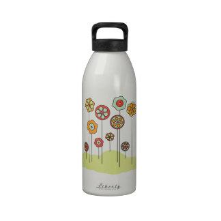 Flores de la primavera botella de beber