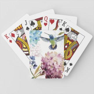 Flores de la primavera baraja de cartas