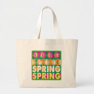 Flores de la primavera bolsas