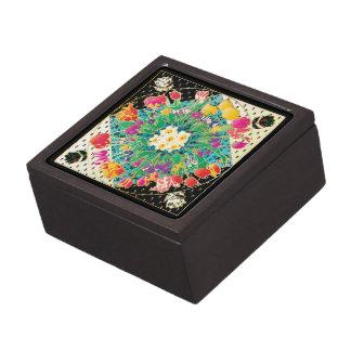 Flores de la primavera caja de recuerdo de calidad