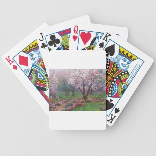 Flores de la primavera cartas de juego