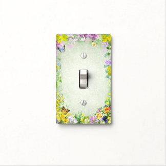 Flores de la primavera cubierta para interruptor