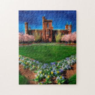 Flores de la primavera del jardín del castillo de puzzles con fotos