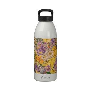 flores de la primavera, efecto botella de agua reutilizable