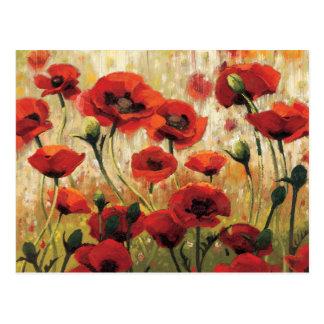 Flores de la primavera en un jardín postal