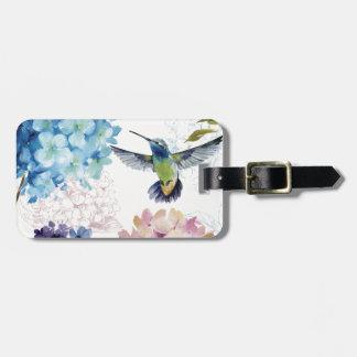 Flores de la primavera etiqueta para equipaje