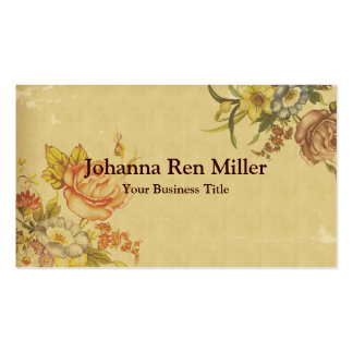 Flores de la primavera - falso estilo del vintage tarjetas de visita