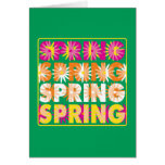 Flores de la primavera felicitación