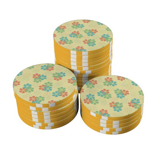 Flores de la primavera fichas de póquer