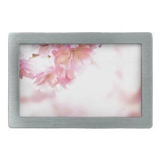 Flores de la primavera hebillas de cinturón rectangulares