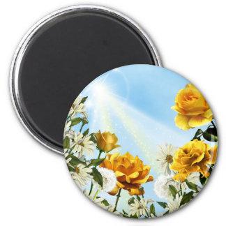 Flores de la primavera imanes para frigoríficos