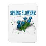 Flores de la primavera imán flexible