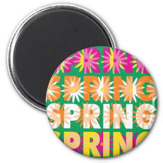 Flores de la primavera imán redondo 5 cm