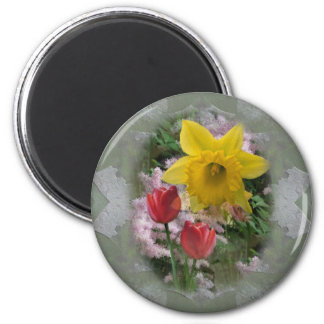 Flores de la primavera imanes de nevera
