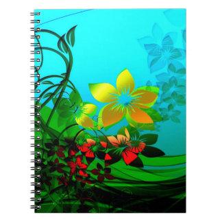 Flores de la primavera libros de apuntes con espiral
