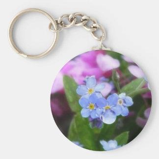 Flores de la primavera - nomeolvides y Redbuds Llavero Redondo Tipo Pin