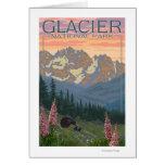 Flores de la primavera - Parque Nacional Glacier,  Tarjetón