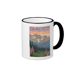 Flores de la primavera - Parque Nacional Glacier Tazas De Café