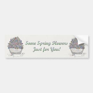 Flores de la primavera pegatina para auto