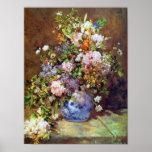 Flores de la primavera por la impresión de Renoir Impresiones