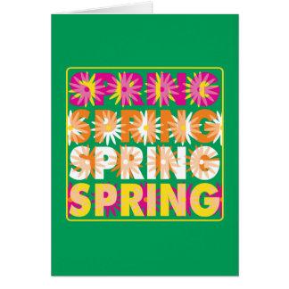 Flores de la primavera tarjeta de felicitación