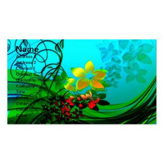 Flores de la primavera tarjetas de visita